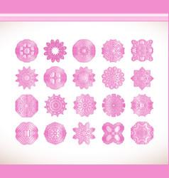 Flower pink mandala vector