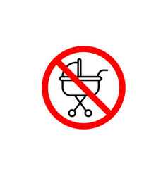 forbidden baby carriage icon can be used for web vector image