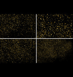 gold glitter texture set design element vector image