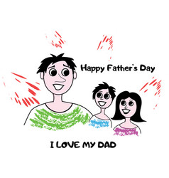 Happy father s day vector