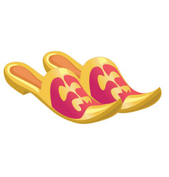 Home shoes with sharp noses isolated on a white vector