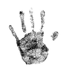 human palm print simple black detailed silhouette vector image