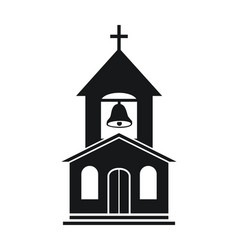 icon church building vector image