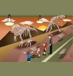 Kids on a field trip to a museum vector