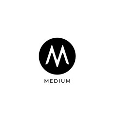 Letter m logo design concept ellipse logo vector