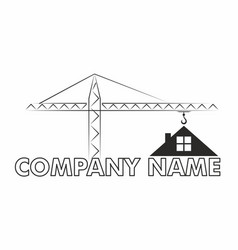 logo of the cottage settlement vector image