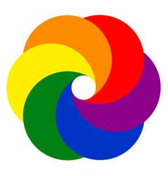 logo template photo studio video kaleidoscope vector image