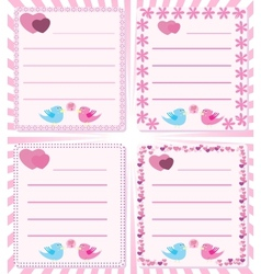 love message birds tweet vector image