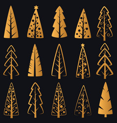 luxury rich decorative golden christmas vector image