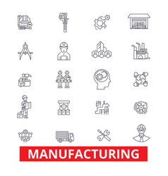Manufacturing production factory plant vector