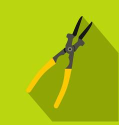 Metal welder pliers icon flat style vector