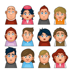 Overweight people avatar character young man vector