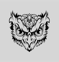 owl geometric head art vector image