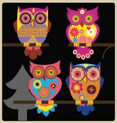 owl night shcool vector image
