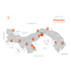 panama map with administrative divisions vector image