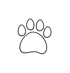 Paw print hand drawn sketch icon vector