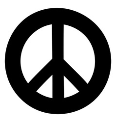 Peace sign anti-war symbol isolated on white vector