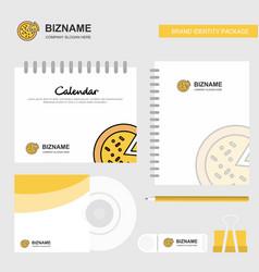 Pizza logo calendar template cd cover diary and vector