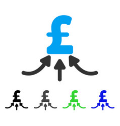 Pound financial accumulator flat icon vector