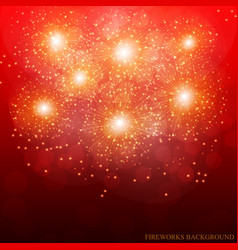 Red fireworks vector