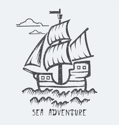 Sea adventure vector