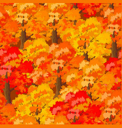 seamless autumn forest vector image