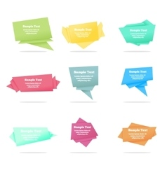 Set of quote abstract geometric origami vector
