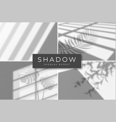 set shadow overlay effects shadow and light vector image