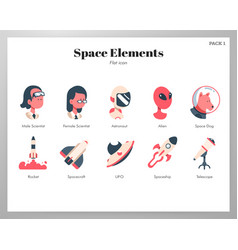 space elements flat pack vector image