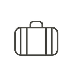 suitcase icon line luggage symbol isolated vector image