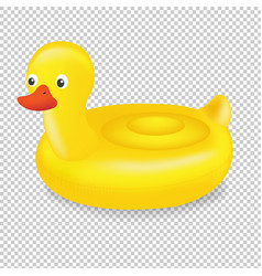 swimming ring duck transparent background vector image