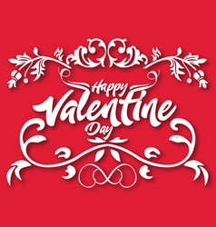 Valentine day floral text image vector