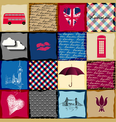 vintage london pattern vector image