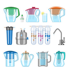 water filter filtering clean drink and vector image