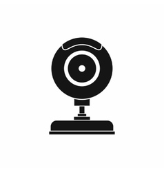 Webcam icon in simple style vector