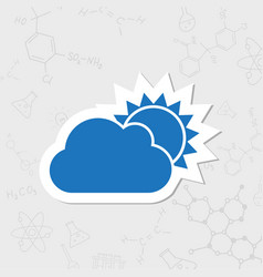cloudness icon vector image