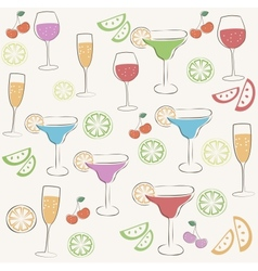 Cocktail party pattern vector image