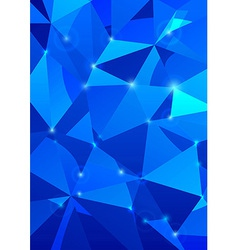 Crystal background - abstraction vector image