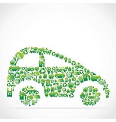 eco green icon car vector image