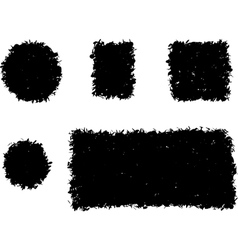 grunge shape square and round black silhouette vector image vector image