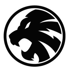 lion black symbol sign 092016 vector image vector image