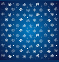 pattern of snowflakes and stars on a blue vector image