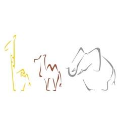 Safari animals vector image