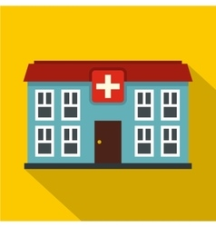 Hospital icon flat style vector image