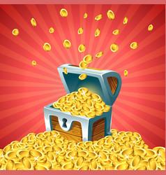 open treasure chest vector image