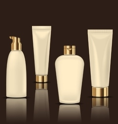 Set of Cosmetic Cream Tubes vector image