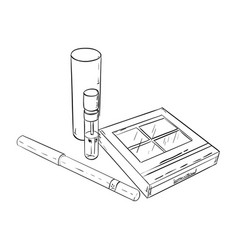 sketch set of cosmetic products vector image