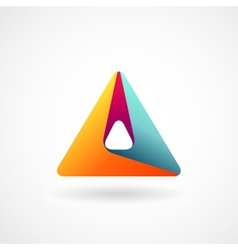 Triangle abstract logo vector image vector image