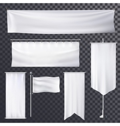 Blank poster or banner hanging frame template vector image vector image