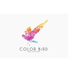 Color bird Rainbow logo Colorful logo design vector image vector image